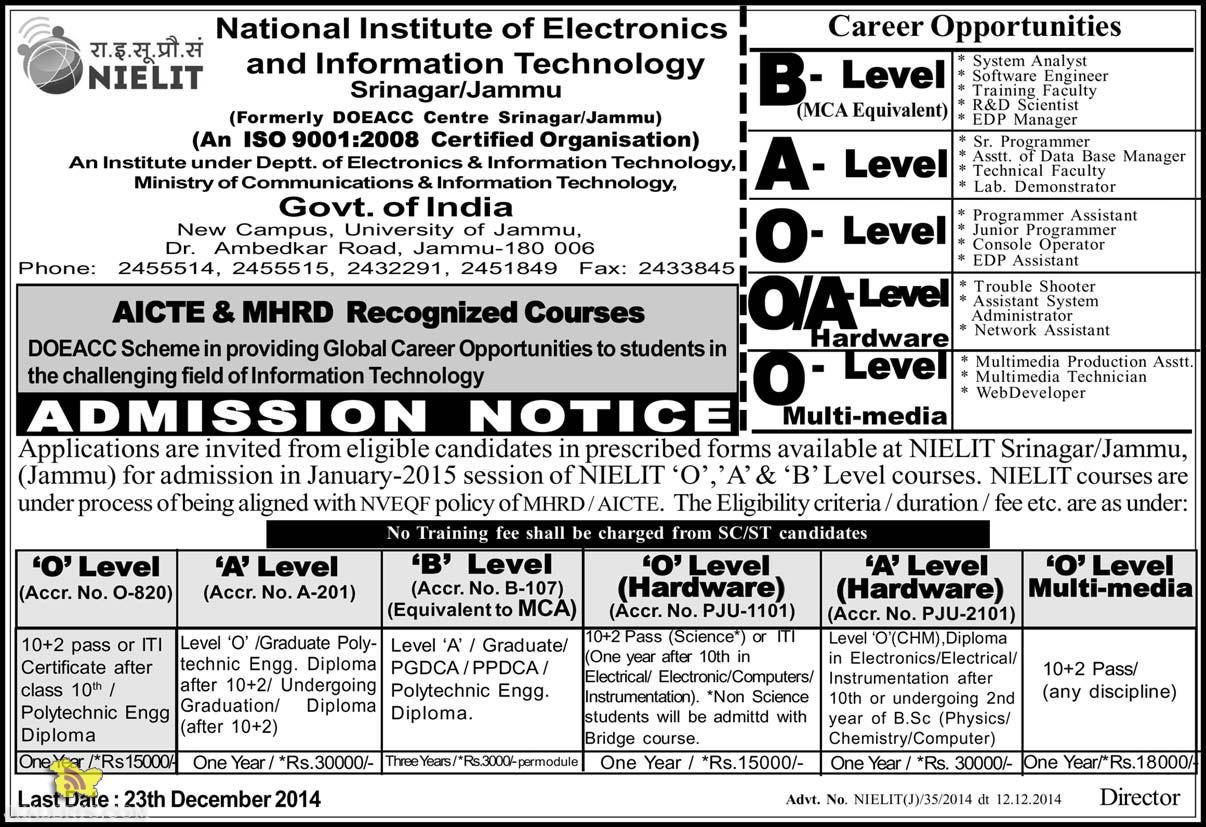 admission in jammu and kashmir
