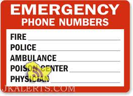 emergency contact number jammu and kashmir