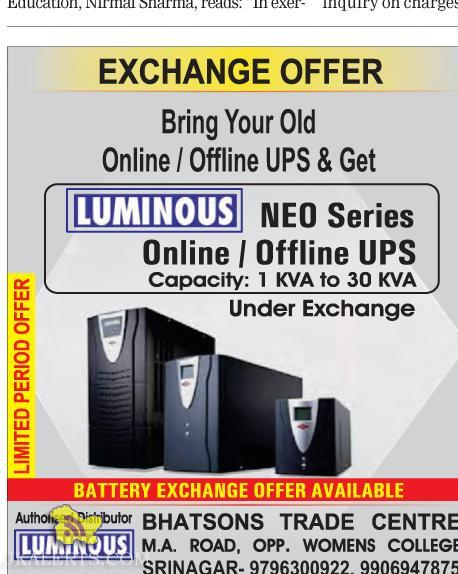 Exchange Offer On Luminous In jammu and kashmir
