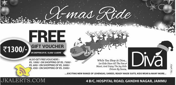 Offers on Diva Jammu this Christmas