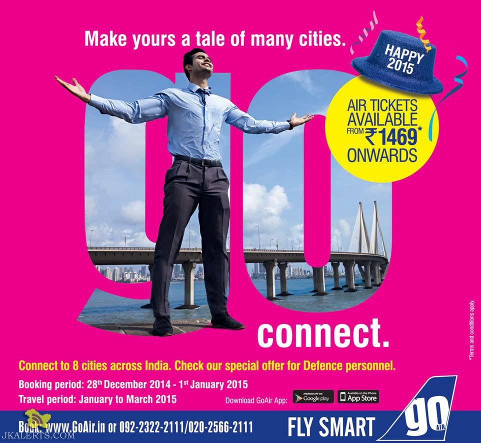 Offers on Air Tickets on Go Air
