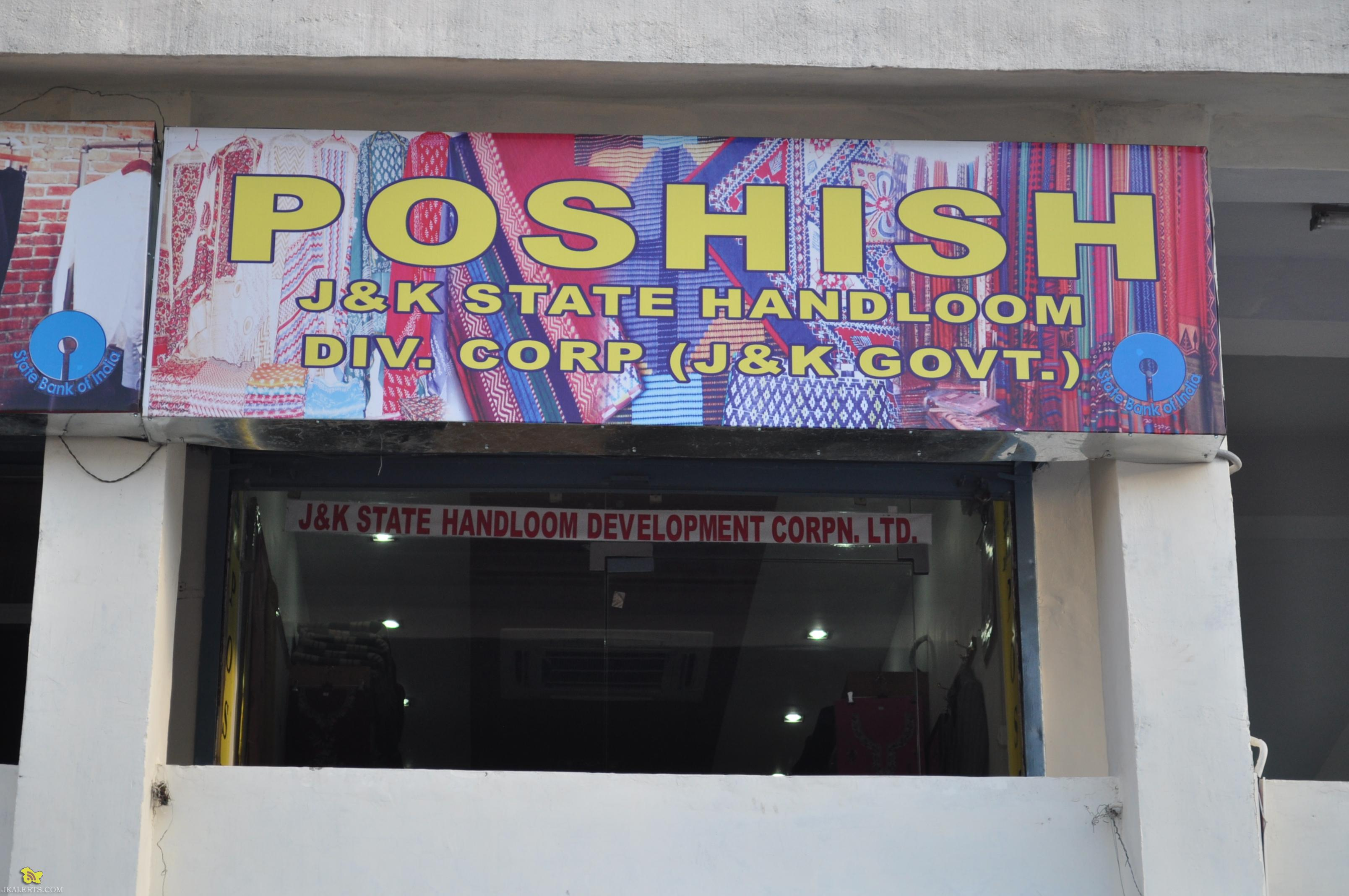 J&K Stale Handloom Development Corporation Poshish OFFERS FLAT 20%