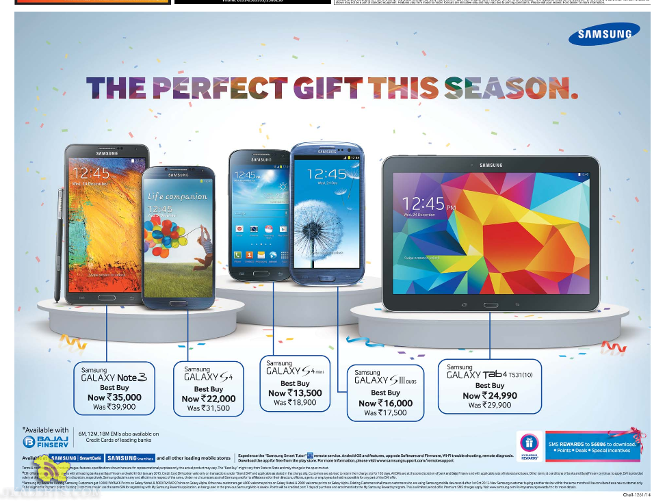 Samsung Mobile latest offer , The perfect gift this season