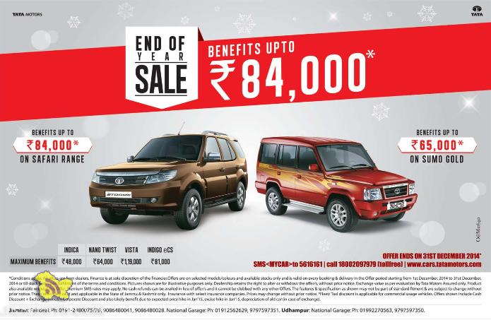 End of year sale on TATA MOTORS