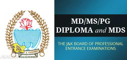 JAKBOPEE MD/MS/PG Diploma and MDS Admission Notification-2015