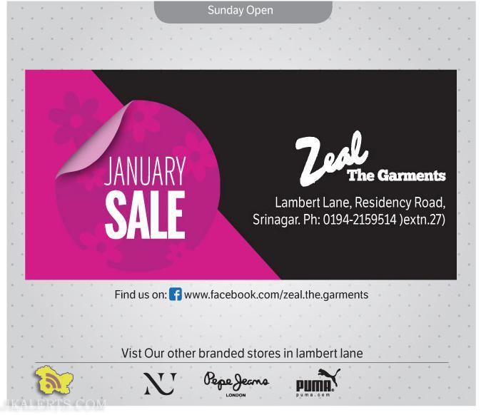 January Sale in Zeal the garments