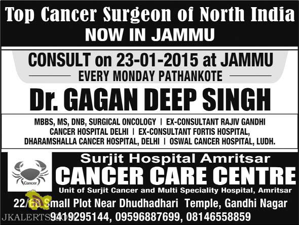 Top Cancer Surgeon of North India NOW IN JAMMU
