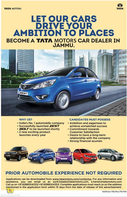 BECOME A TATA MOTORS CAR DEALER IN JAMMU.