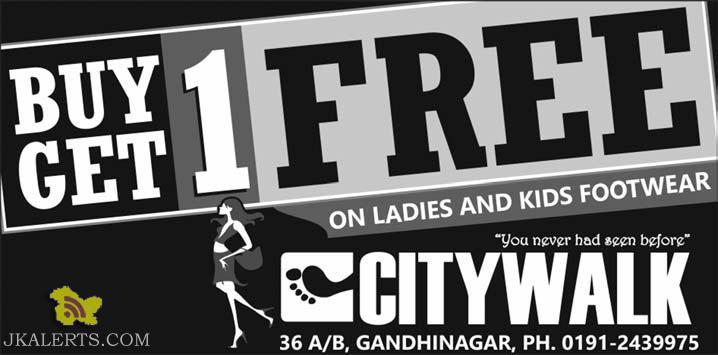 Buy 1 Get 1 Free on ladies and kids Footwear