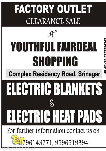Sale on Electric Blankets and Electric Heat pads