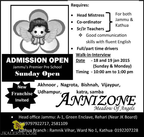 Pre school admission 2015
