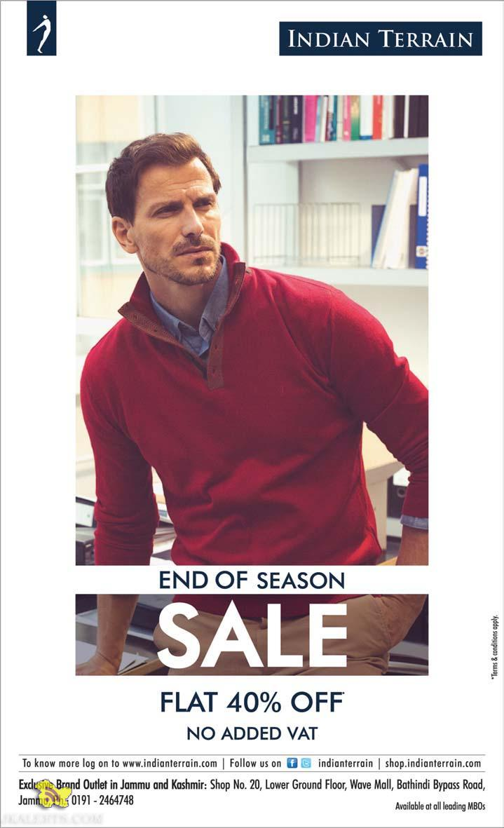 INDIAN TERRAIN END OF SEASON sale