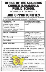Jobs in Baramulla public school