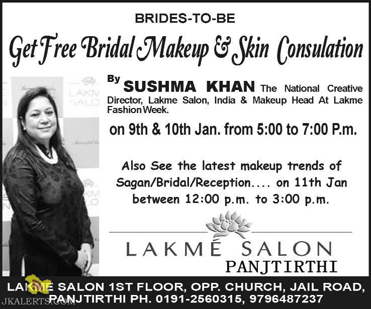Get Free Bridal Makeup and Skin consulation
