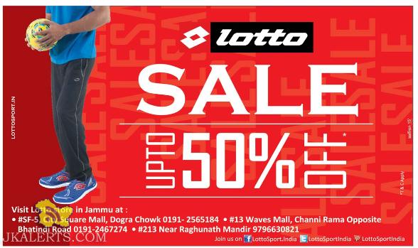 Lotto Sale in Jammu, Sale at Wave mall, City Square, Raghunath Bazar Jammu