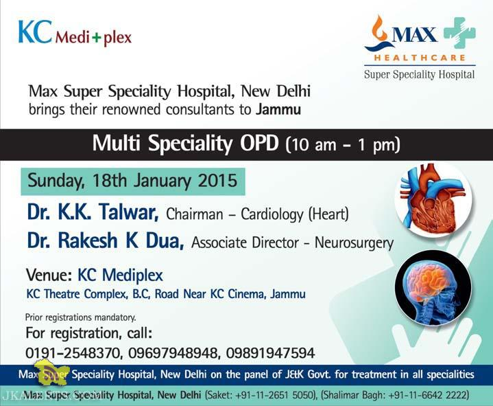 Max Super Speciality Hospital, Special OPD