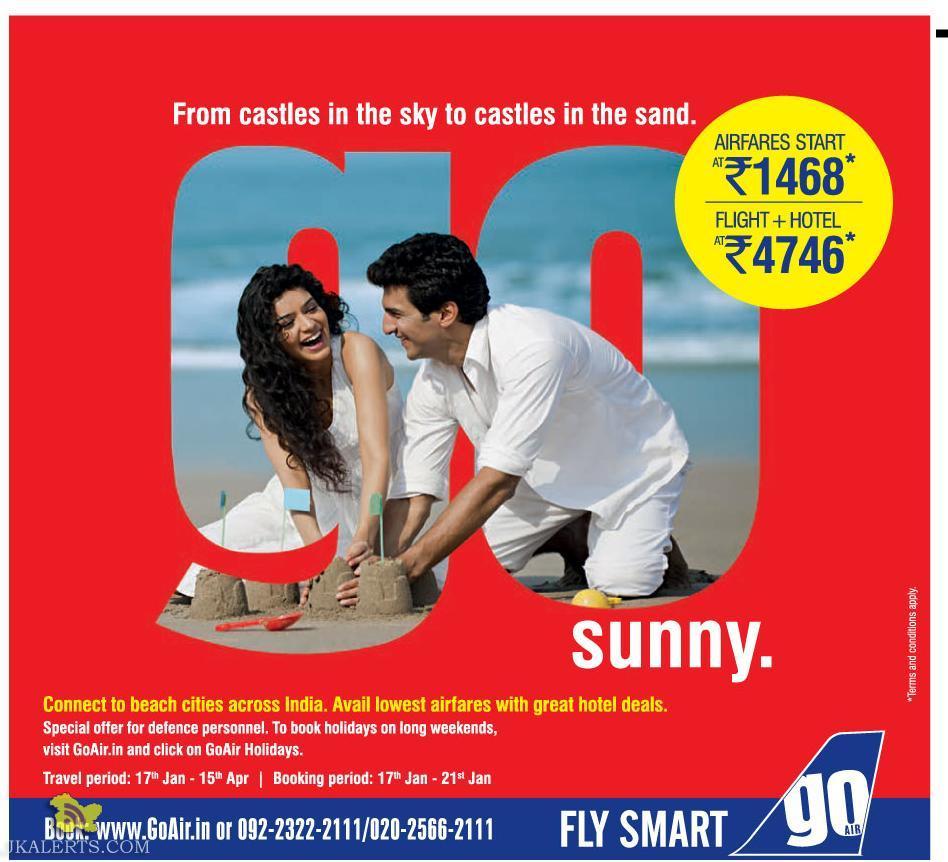 Best offer on Flight and hotel Goair offer