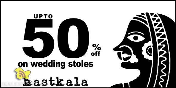 Sale upto 50% on wedding Stoles Hastkala Jammu