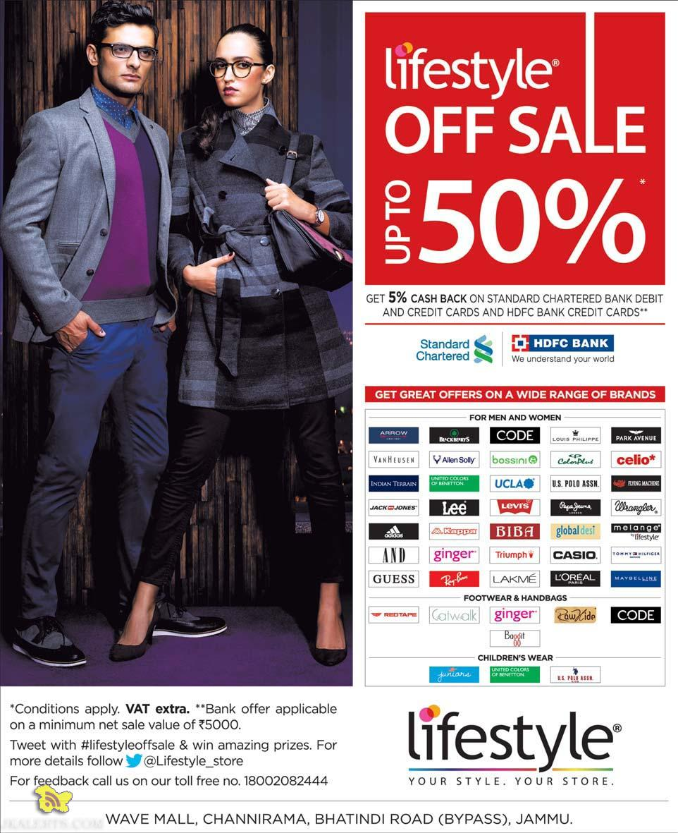 Sale on Lifestyle Get great offers on a wide Range of Brands