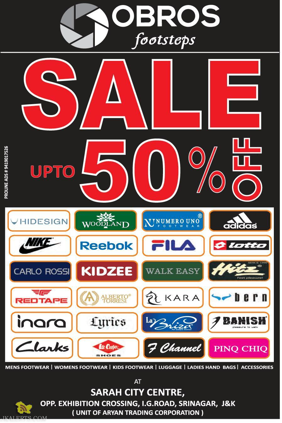 Sale MENS, WOMENS AND KIDS FOOTWEAR OBROS FOOTSTEPS