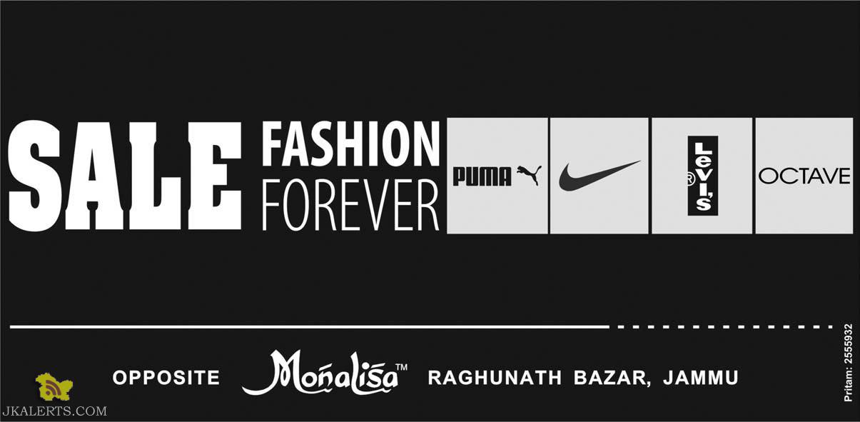 Sale in Fashion Forever, on Puma, Nike, levis, Octave