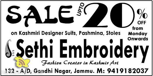 Sale on shawls