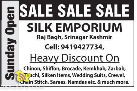 Silk Emporium Heavy Discount On Chinon, Shiffon, Brocade, Tanchi, Silken Items etc