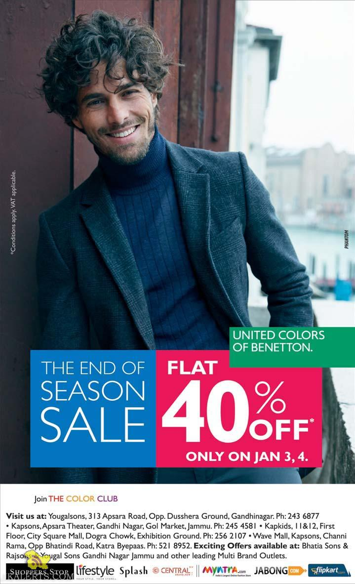 End of Season Sale on United Colors of Benetton