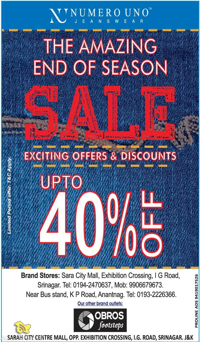 Sale on Numero Uno, Exciting offers and discounts