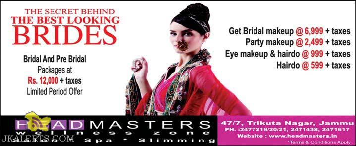 Best offers on Bridal and Pre Bridal Packages at Head Masters