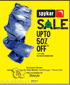 Latest sale on spykar Jeans Gole market, Gandhi nagar, Wave Mall, Lifestyle Jammu