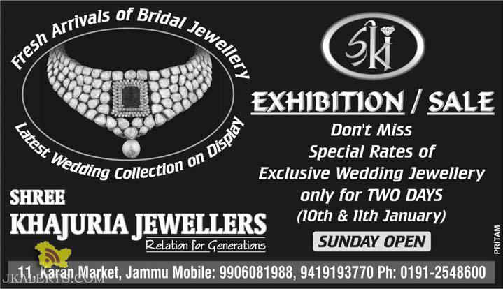 Exhibition / Sale on Bridal Jewellery in Shree Khajuria Jewellers