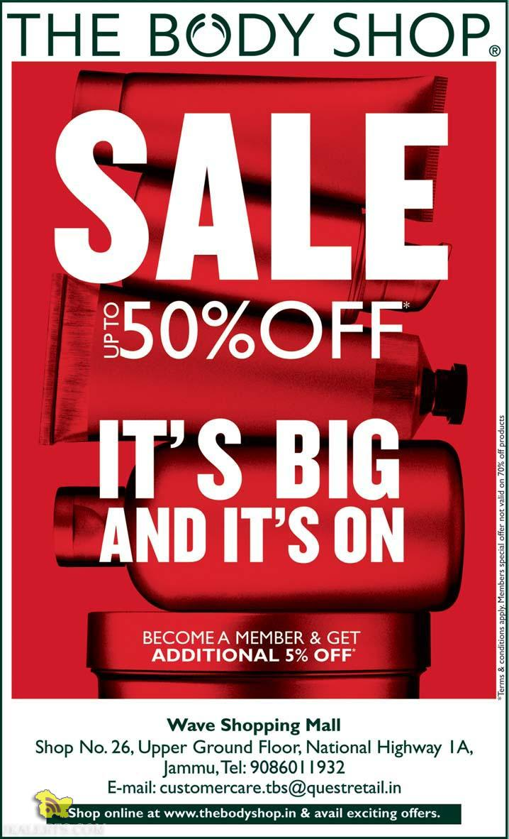 The Body Shop Sale upto 50% off