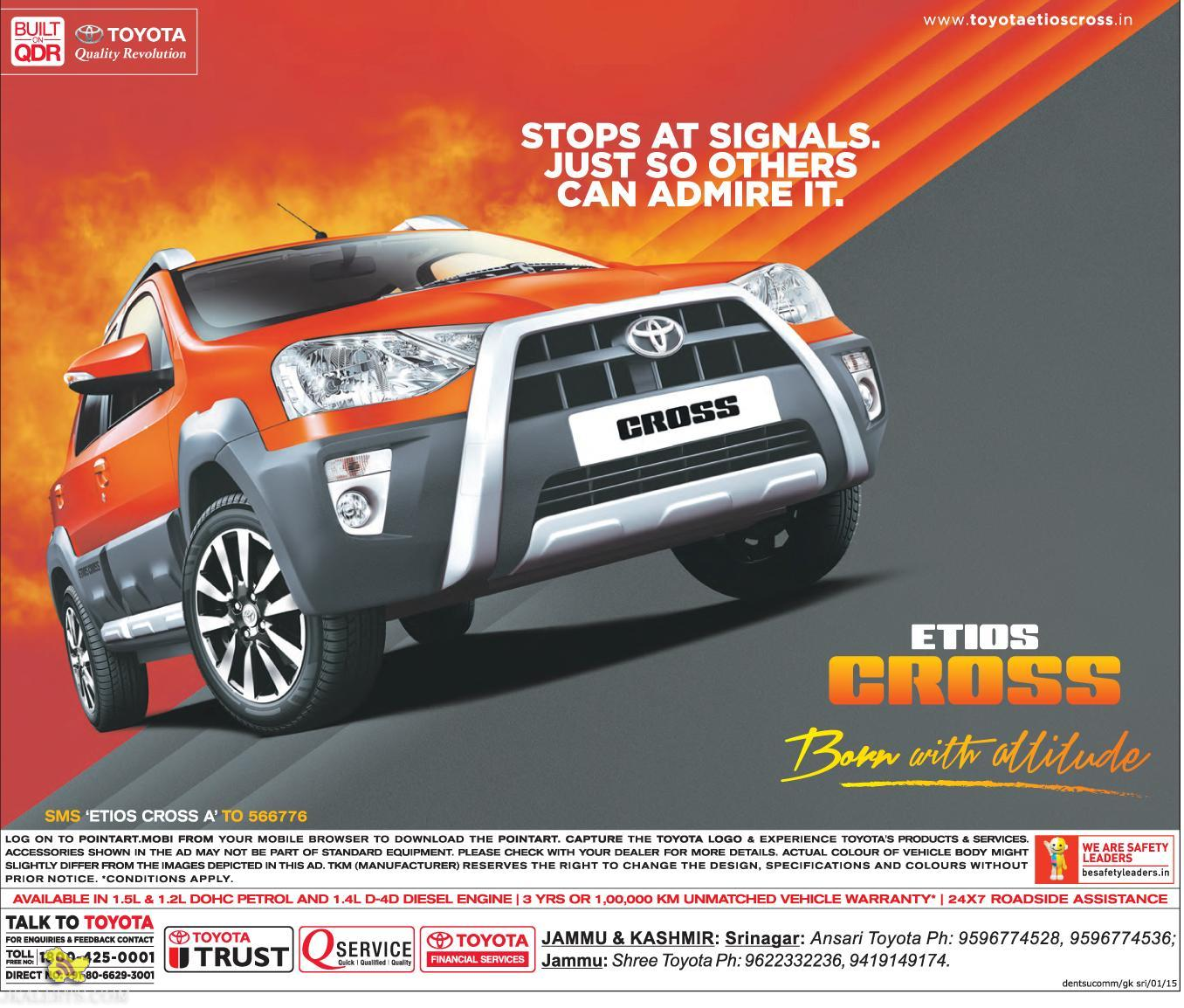 Etios Cross Toyota Dealers Jammu and Kashmir