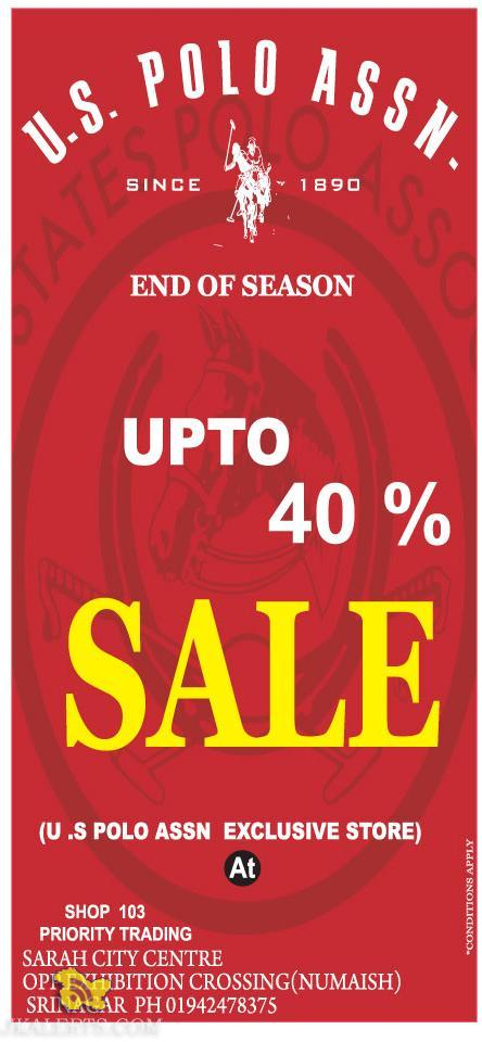 End of season sale at U.S. POLO ASSN J&K