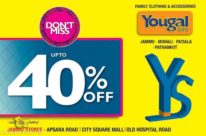 Yougal sons 40% off