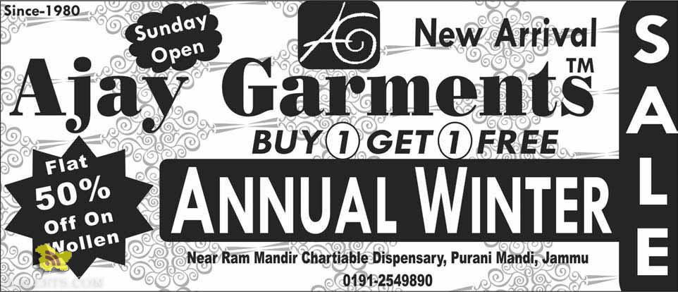 Ajay Garments Latest offer and Sale