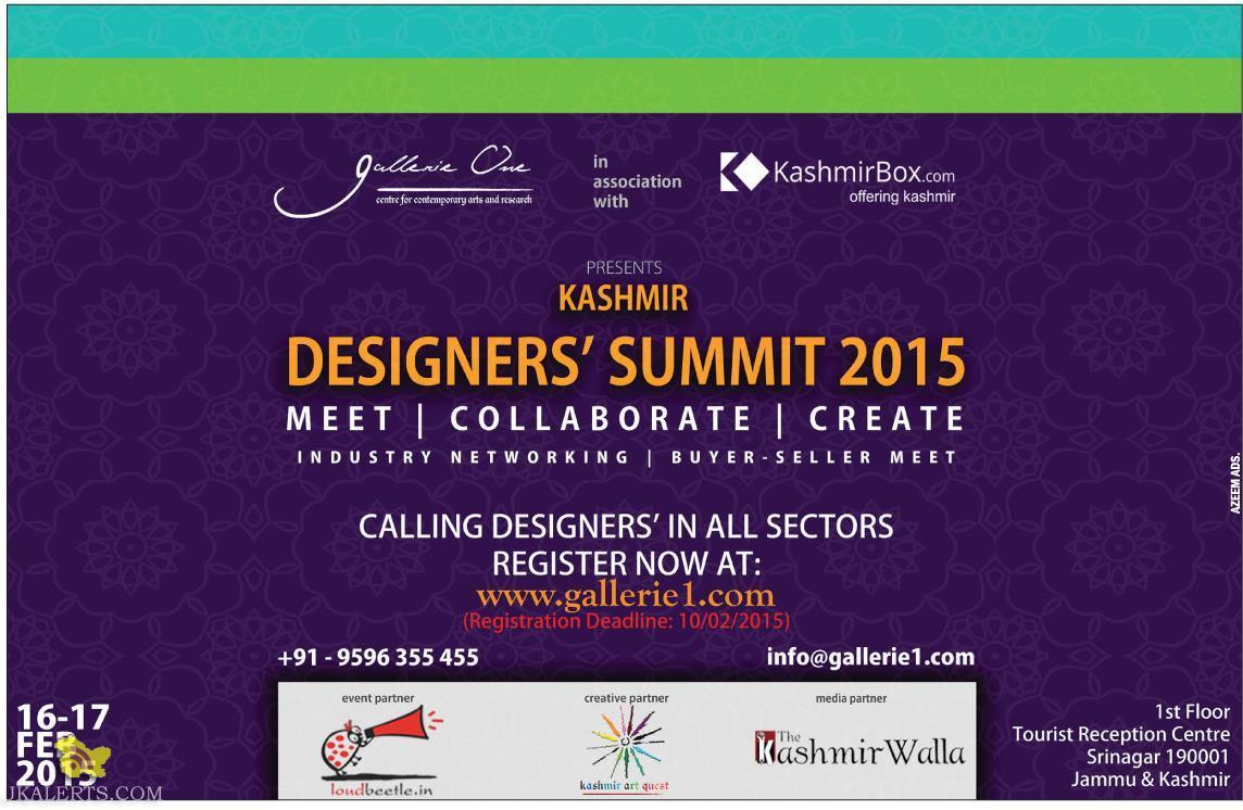 KASHMIR DESIGNERS' SUMMIT 2015