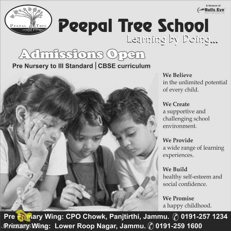 Admission open in Peepal Tree school