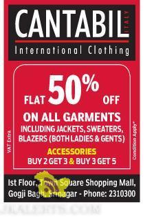 Sale on CANTABIL International Clothing