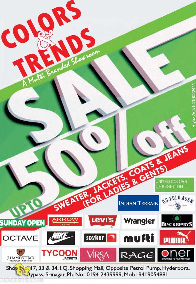 Sale on Colors and trends Srinagar