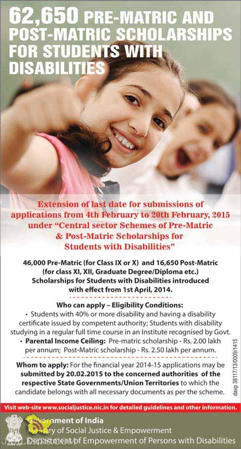 PRE-MATRIC AND POST-MATRIC SCHOLARSHIPS