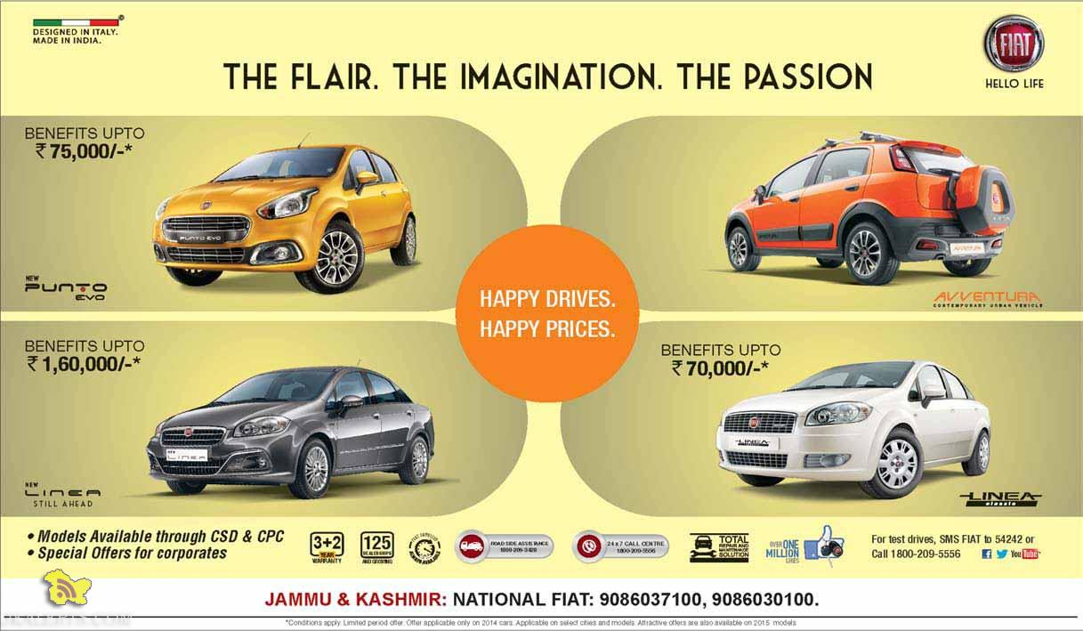 FIAT Happy Drives Happy Prices offer