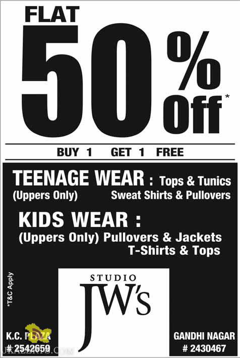 Studio JW'S Sale Teenage Wear and Kids Wear