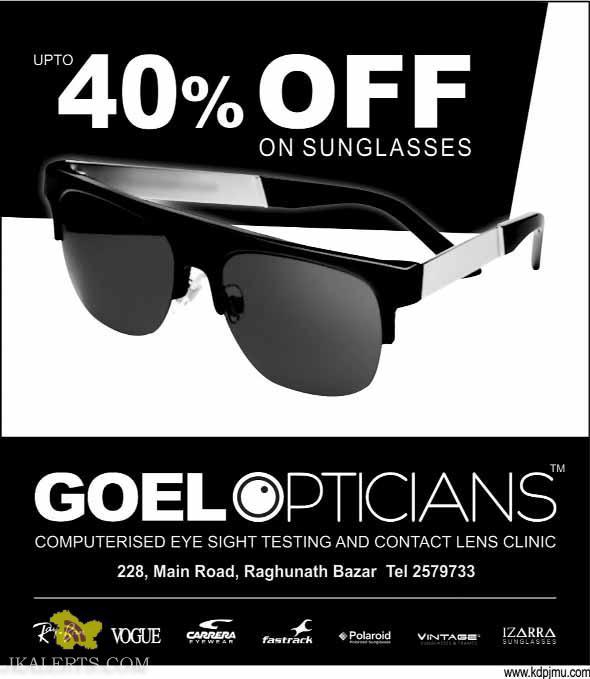 Goel options Sale upto 40% off on sunglassess