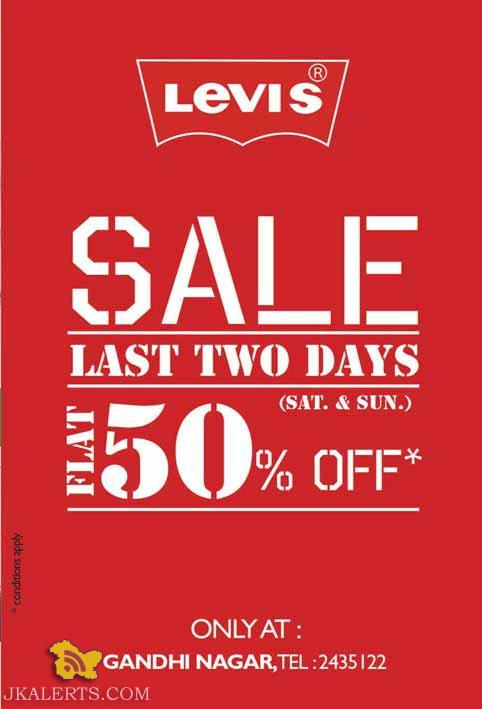 Levis sale in Jammu