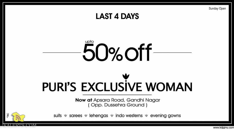 SALE PURI'S EXCLUSIVE WOMAN