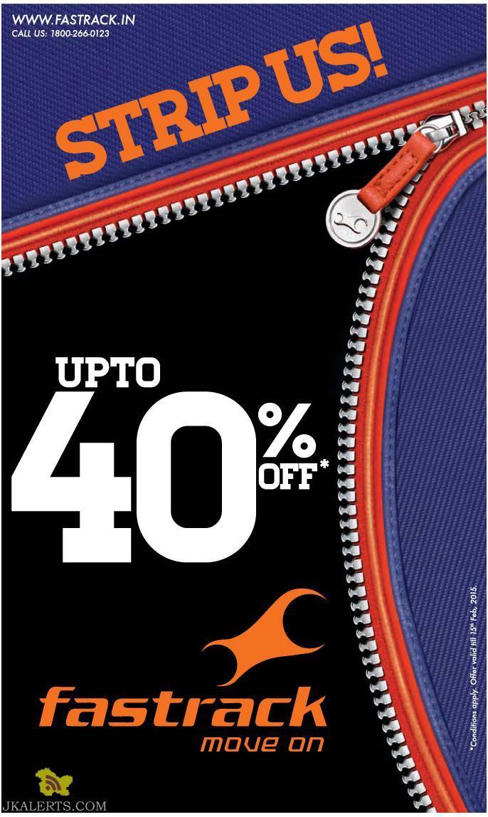 Fastrack Sale upto 40% off