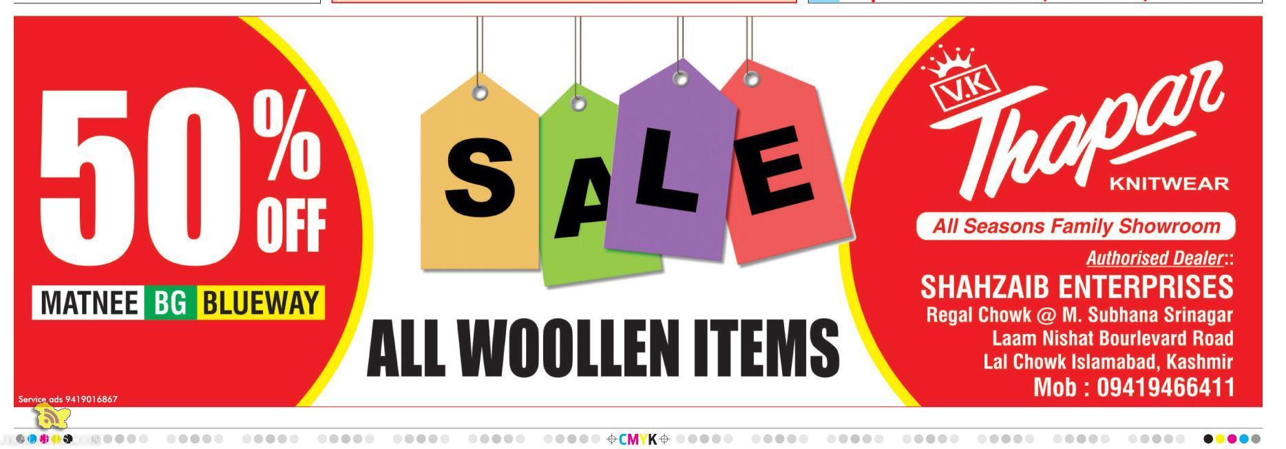 Sale on woollen items