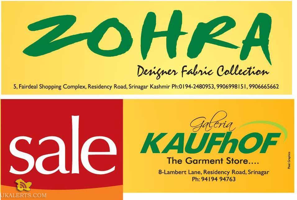 Sale in Zohra and KAUFhOF Srinagar